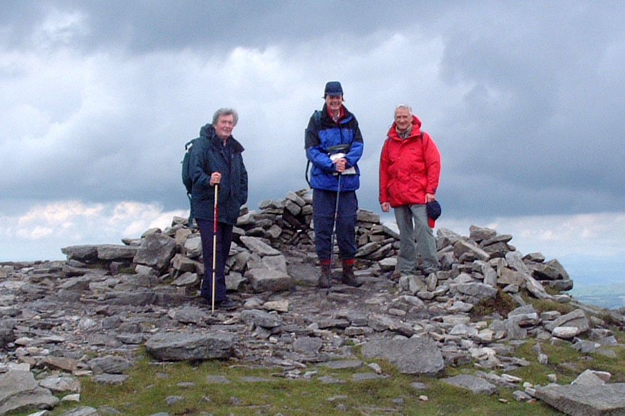 On the Summit of Ingleborough, with Alan and Bob - July 2002