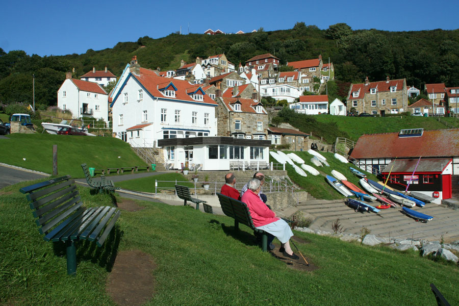 Brian's Bench (Extreme Left), Runswick Bay